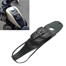 Leather Tank Bag Cover Panel Pad Bib Bra With Pouch Black For Harley for Sportster XL 883 1200 for Iron 883 XL883N