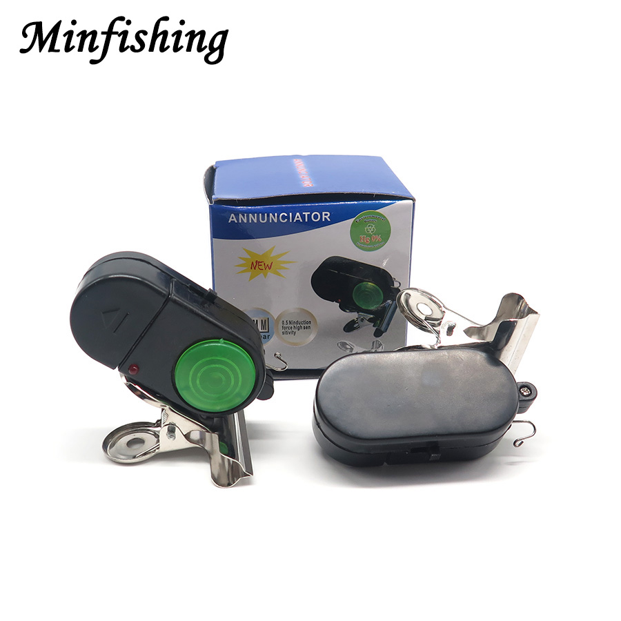 Minfishing 10 PCS Fishing Alarm Fish Bite Alarm Length 6cm Bell with Strong Clip Fishing Tool for Sea Fishing