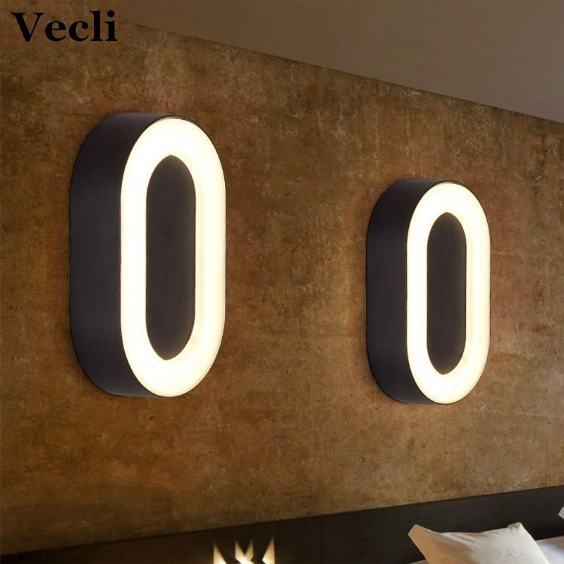[Vecli] Modern  Surface Mounted LED Wall Lamps Outdoor Waterproof IP65 Aluminum Lights Garden