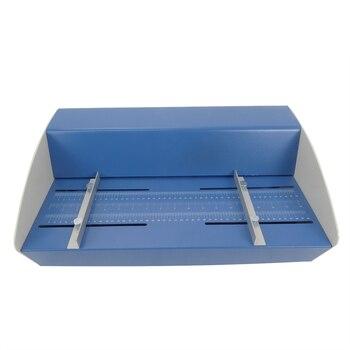 Bleu nouveau 18 pouces 460mm électrique Creaser buteur perforateur 3 in1 combo papier rainage perforant 3 fonction Machine 1 pièces|Porte-outil|Outils -