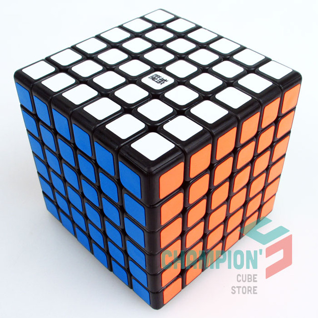 MoYu 6x6x6 Aoshi Puzzle Cube Magic Black And White And Stickerless Full color Educational Cubo magico Toys
