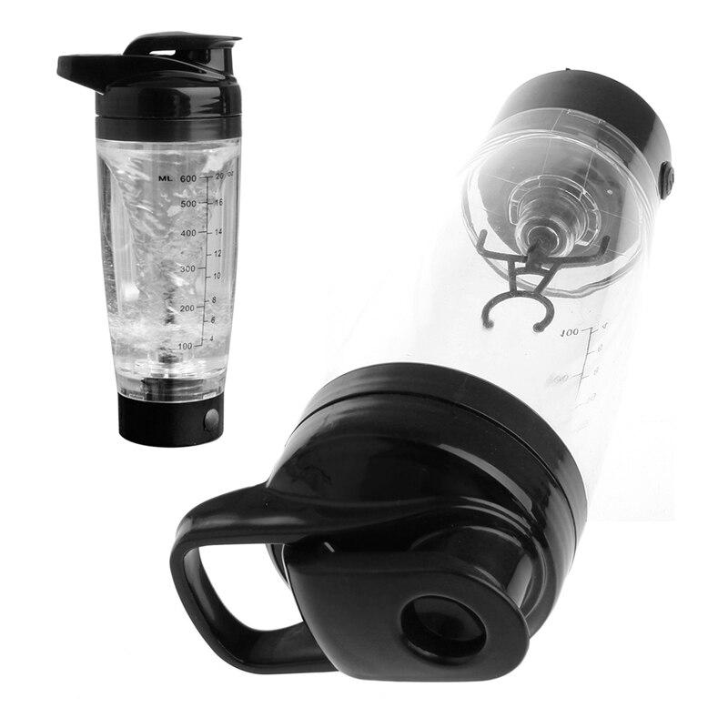 600ml Protein Shaker Plastic Water Bottle Sports Detachable Vortex Mixer Cup-P101