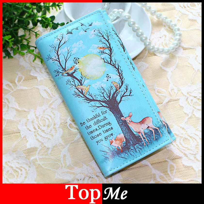 Women Wallets Handbags Brand Coin Purse Brand Tree Pattern Moneybags Lady Purses Girls' Long Clutch Wallet Cards ID Holder Bags