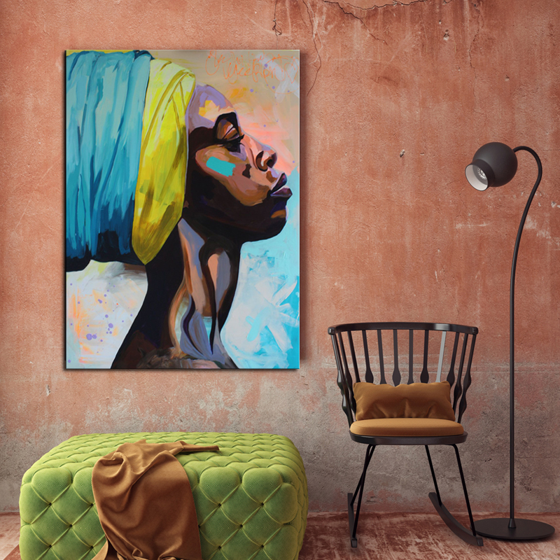 Canvas-Painting-Wall-Art-Pictures-prints-colorful-woman-on-canvas-with-frame-home-decor-Wall-poster