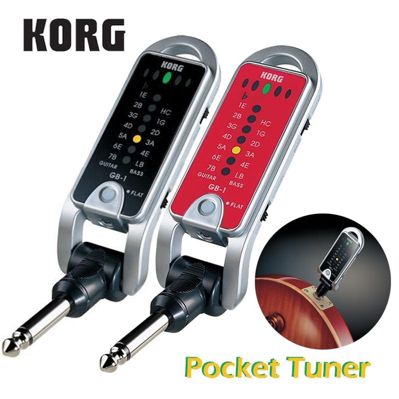 KORG Pitchjack GB-1 GB1BK Folding Keychain/Pocket Tuner Guitar Bass Tuner Versatile Tuner