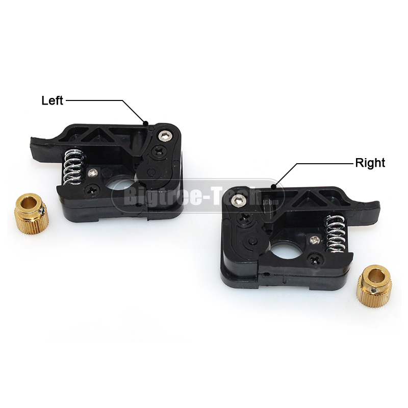 3D printer accessories MAKEKBOT2 extruder II generation Plastic parts left/right suite with 1.75/3mm double gear