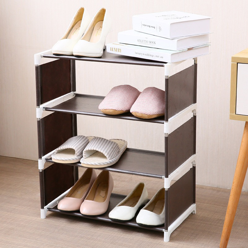 Japanese Solid Color Simple Non Woven Living Room Shoe Box Assembly