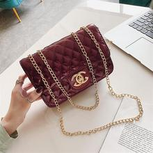 Youbroerfashion Trend Patent Leather Chain Bag Single Shoulder Diagonal Straddle Bag Students Versatile Female Bags Women Bags