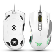 Adroit 2016 Brand New Wired LED CW10 4800 DPI Gaming Mouse Cool Mice Muis 11S60910 drop shipping