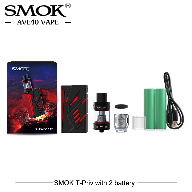 Original SMOK T-Priv 220W Box Mod Kit Cool LED 5ML T PRIV TFV8 Big Baby Tank Atomizer Electronic Cigarettes Fit TFV8 Baby Coil 100% original smok t priv kit with 5ml tfv8 big baby atomizer 220w t priv mod vaporizer electronic cigarette vape kit vs g priv