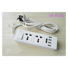 New Power Strip 4 USB Charging Ports Plug US & EU&UK Standard Multi Adapter Smart socket For iphone Samsung Xiaom