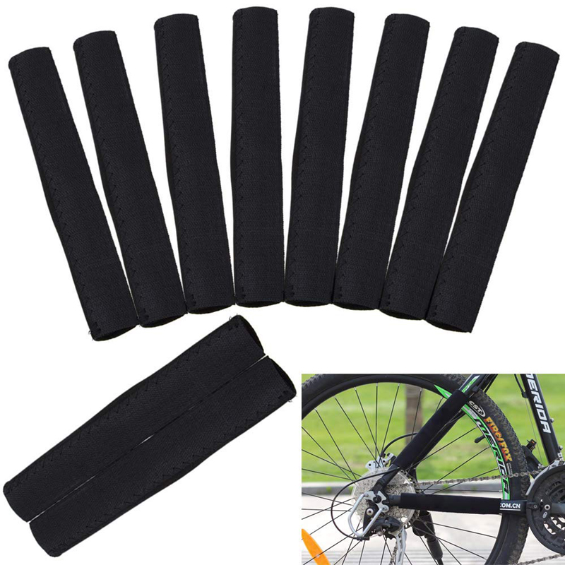 2pcs Bicycle Chain Guard Protector Stickers Chain Protective MTB Road Bike Front Fork Chain Protective Cycling Accessories