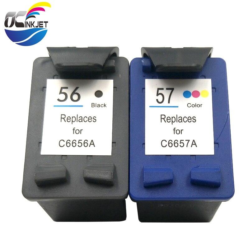57 DeskJet 5550 5150 5650 5652  OfficeJ 2 Druckerpatronen kompatibel für HP 56