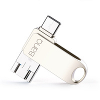 BanQ C80 Tipo-C/Micro/USB 3.0 A Tre-in-one USB Flash Drive 32 GB metallo Pen Drive Chiave 64 GB di Tipo C Ad Alta Velocità Bastone Pendrive 16 GB