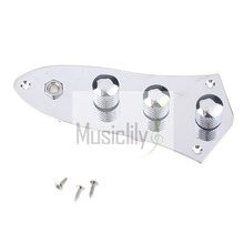 Chrome Wired Loaded Control Plate Set For Jazz Style Bass Guitar
