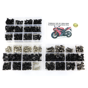 For Yamaha YZF-R1 YZF R1 2004 2005 2006 Motorcycle Accessories Fairing Bolts Kits Screws Clips Fastener Steel upper front fairing cowl nose for yamaha yzf r1 yzf r1 2004 2006 2005 motorcycle accessories