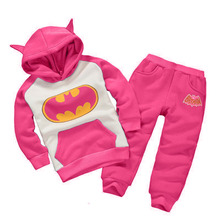 Children's suit 2016 autumn and winter 2 pieces of 1-6 year old boy girl fashion sports set thickening cotton children's clothes set of 6 pieces cotton box set of 6 pieces