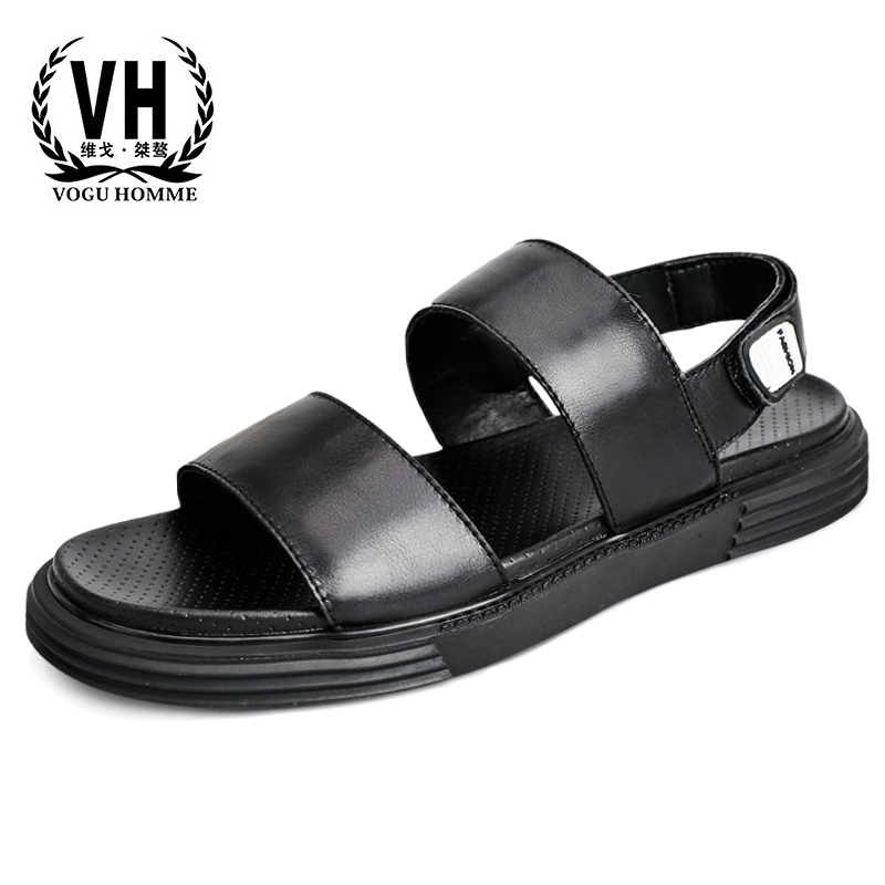 Mens Sandals Summer Genuine Leather Personality Fashion Leather Sandals Thick-soled Breathable Beach Shoes cowhide Flip FlopsMens Sandals Summer Genuine Leather Personality Fashion Leather Sandals Thick-soled Breathable Beach Shoes cowhide Flip Flops