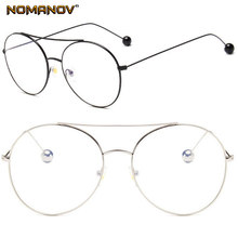 Fashion Oversize Steel Ball Frame Custom Made Prescription Optical Lenses or Photochromic Gray / Brown Lenses 0 -0.5 -1 To -6(China)