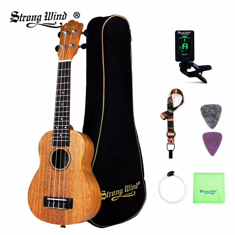 Strong Wind Soprano Concert Ukulele for Kids 21 23 Inch Ukelele 4 Nylon Strings Guitarra Rosewood