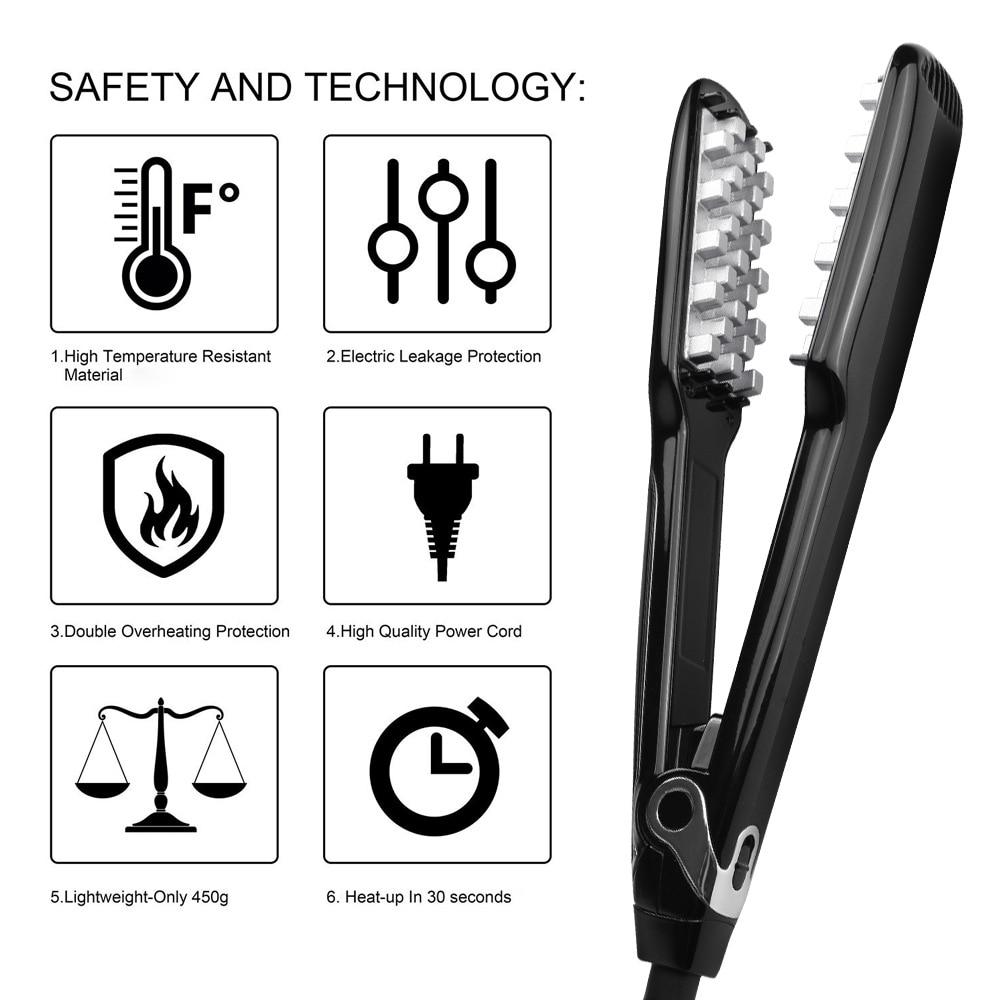 2019 New Hair Volumizing Iron Flat Iron Hair Straightener Digital Flat Iron with LCD Display Hair Styling Tools