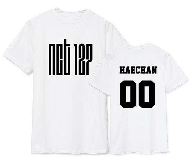 f6a0664a9 Summer style nct u member name printing short sleeve t shirt for fans  supportive kpop o neck t-shirt