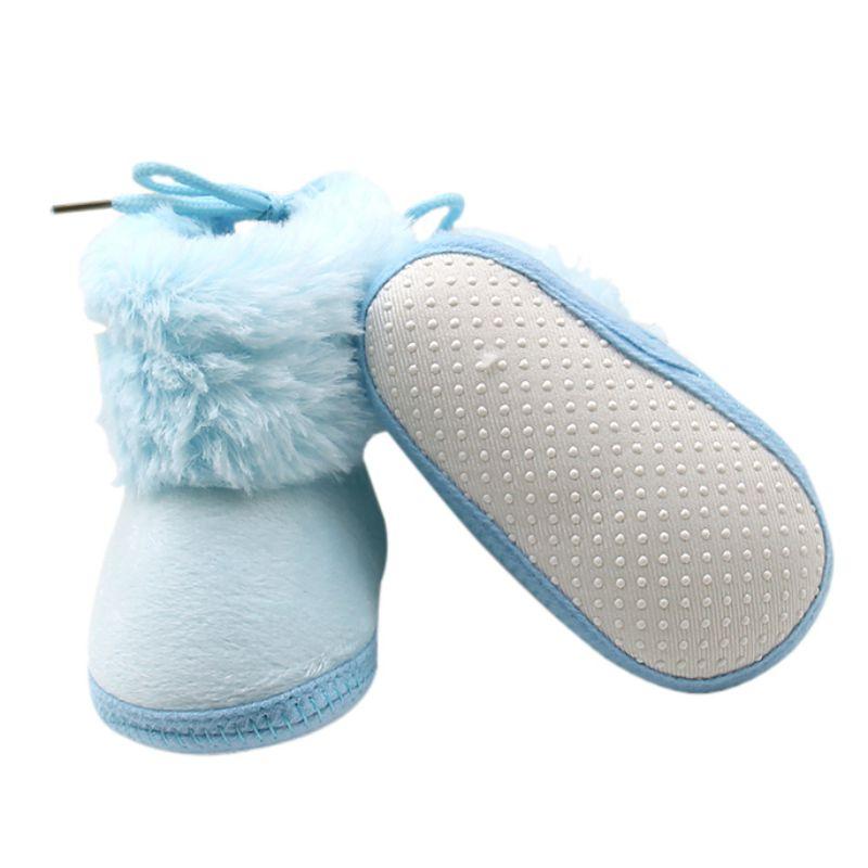 Горячая зима новорожденного малыша Обувь для девочек Обувь для мальчиков детские Обувь для малышей Обувь мягкой подошве теплые Обувь для м...