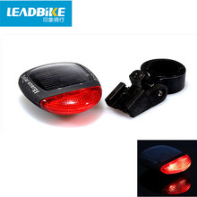 Leadbike Solar Power Bicycle Rear Tail Light 2 LED 3 Modes Cycling MTB Bike Warning Light Solar Energy RechargeableTaillights