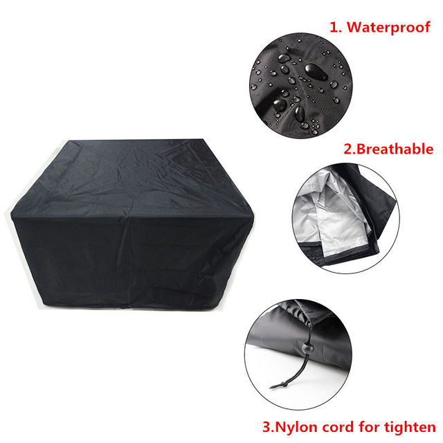 Outdoor Garden Furniture Rain Cover Waterproof Oxford Wicker Sofa Protection Set Garden Patio Rain Snow Dustproof Black Covers