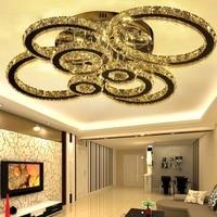 2017 Luxury LED Modern Luster Round K9 Crystal Chandelier Lights Faixture for Foyer Bedroom Hotel Living Room Ceiling Lamp