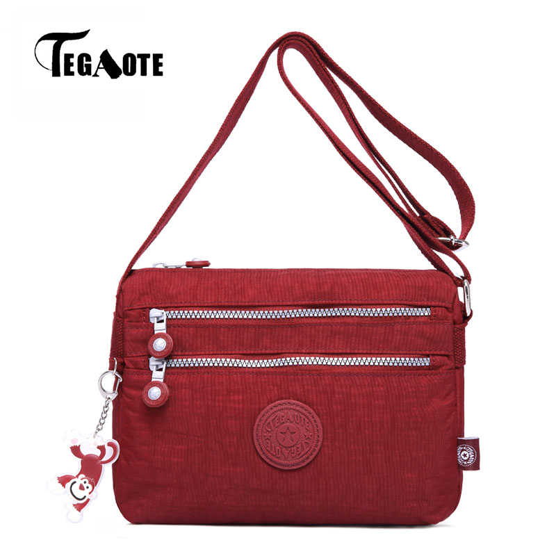 Tegaote Small Shoulder Bags Female Solid Zipper Handbags Women Famous Flap Mini Nylon Beach Crossbody Bag Sac A Main 2017