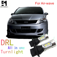 Shinman led 1156 150degree Py21w Bau15s car light DRL Daytime Running Light Front Turn Signal all in one for Honda Airwave 2008