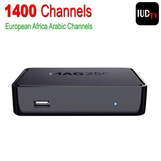 Linux Caja IPTV Mag 250 IPTV Árabe Iptv Set Top Box Europa Cuenta Incluya Cielo/Griego/Portugués/español/Indio/Canales en Inglés