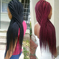 "Crochet Twist Hair Extension 18"" 30roots Senegalese Twist Crochet Braiding Hair 20 Strands Afro Twist Braid for Black Women"