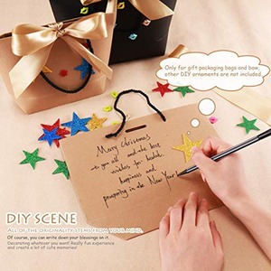 Image 5 - 10pcs Gift Box Packaging Gold Handle Paper Gift Bags Kraft Paper Wedding Favors for Guests Baby Shower Birthday Party Decoration