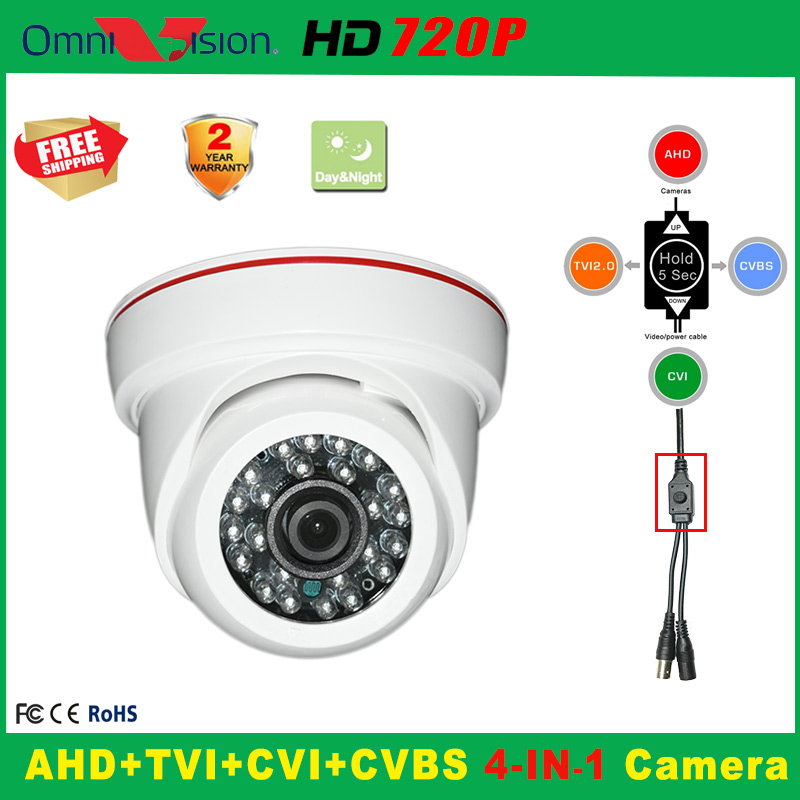 1280*720P Indoor Security AHD CCTV Camera 5*24PCS IR LED Home Video HD Night Vision CMOS Mini Plastic Dome cameras 1 3 cmos 1000tvl indoor security cctv camera 6pcs blue ir led home video surveillance hd night vision video mini dome camera