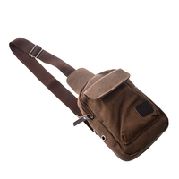 Men S Casual Small Canvas Vintage Shoulder Hiking Crossbody Bicycle Bag Messager Bags