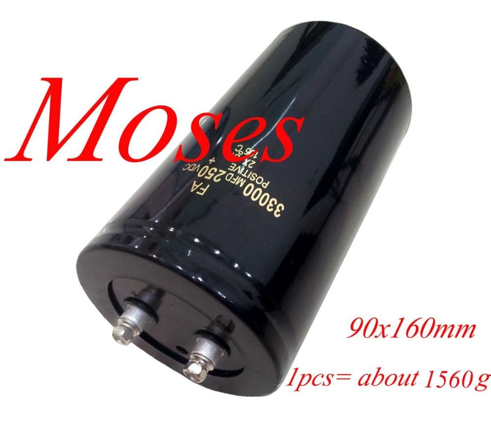250v 33000uf Electrolytic Capacitor capacitance Radial 90x160mm 1pcs