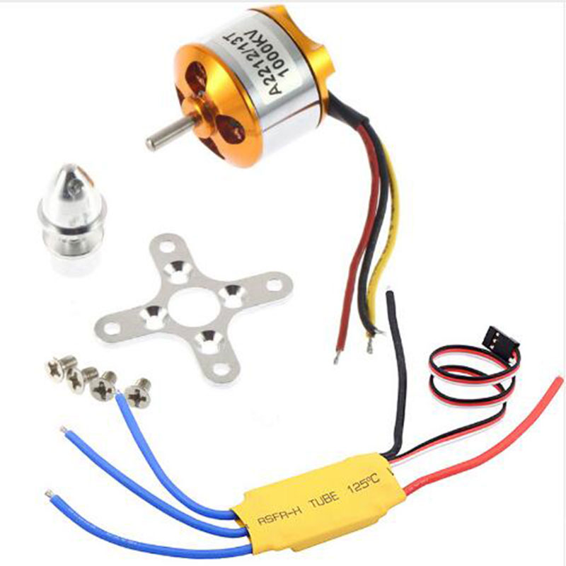 <font><b>Motor</b></font> A2212 <font><b>1000KV</b></font> Brushless <font><b>Motor</b></font> With 30A ESC for Quadcopter DIY Model Accessories Parts Multicopter 450X525 image