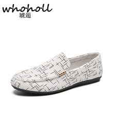 WHOHOLL Brand Fashion Summer Style Soft Moccasins Men Loafers High Quality Genuine Leather Shoes Flats Gommino Driving
