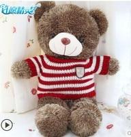 cute teddy bear toy small teddy bear toy red stripes sweater bear doll birthday gift doll about 60cm 0143