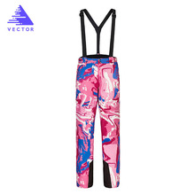 Women Ski Pants Brands New Women Waterproof Snowboard Pants Breathable Skis Trousers Winter Outdoor Sport Mountain Skiing Pants цена в Москве и Питере