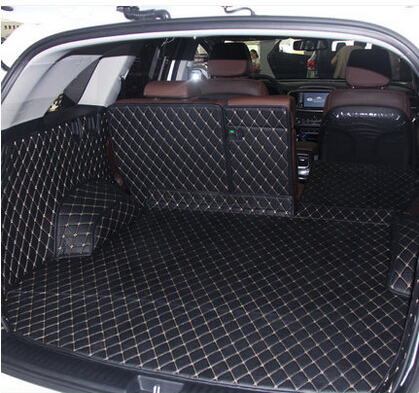 CHOWTOTO Custom Special Trunk Mats For KIA Sorento 5seats Durable Waterproof Leather Luggage Carpets For Sorento