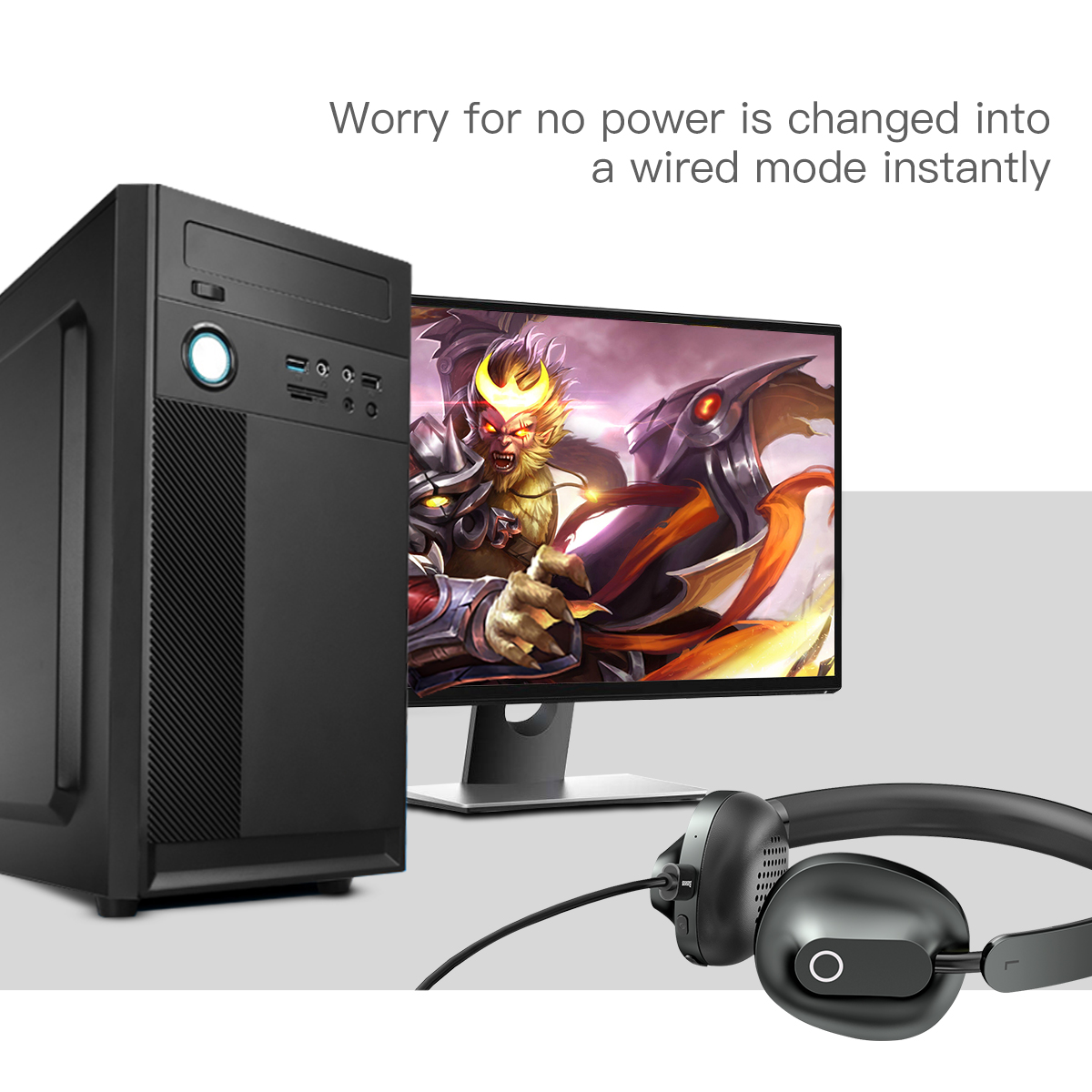 baseus d01 bluetooth wireless headphone with microphone for gaming