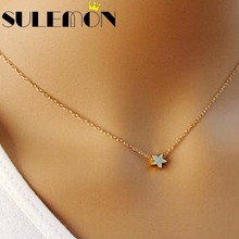 402416077f5 Fashion Delicate Charm Little Star Necklace Pendant For Women Trendy  Bohemian Jewelry Gold Color Pentagon Stars Chain Necklaces