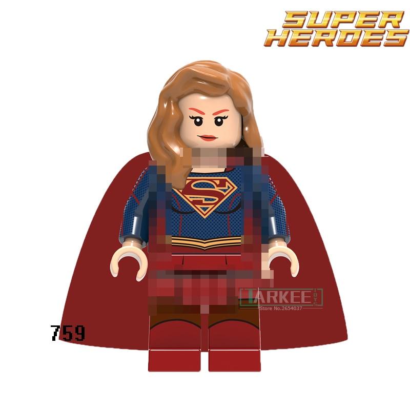 Одной продажи Супергерл Wonder Woman Супер герои цифры Модель Строительство Конструкторы ребенок учится кирпич Детский подарок Игрушечные лоша...