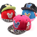 Лето Марка Мультфильм Микки Бейсболка Snapback Шляпы Для Мужчин и для Женщин Милые Мышки Хип-Хоп Шапки Casquette Hat