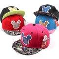 Verano marca de dibujos animados gorra de béisbol del snapback sombreros para hombres mujeres lindo del ratón de mickey de la cadera hop gorras casquette sombrero