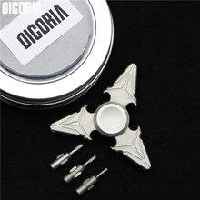 DICORIA custom Titanium alloy fingertip gyroscope bearing edc finger screw fingertip gyroscope trilobule retro font b