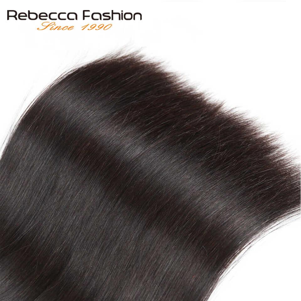 Rebecca прямые волосы пучки предложения перуанские 100% человеческие волосы переплетения пучки от 8 до 28 30 дюймов прямые Remy человеческие волосы для наращивания